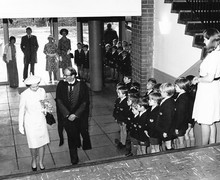 The visit of Her Majesty the Queen to the Preparatory School on the occasion of the 150th Anniversary of the Edinburgh Academy, July 1974