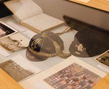 Display of sporting memorabilia and photographs