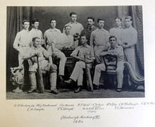 The Academy Cricket 1st XI of 1880