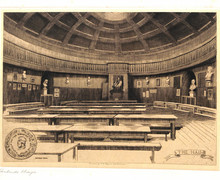 Etching of the Main Hall by Gertrude E. Hayes (1872-1956)