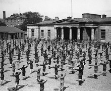 Physical exercise in the yards c1928