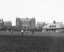 New field and boarding houses c1928