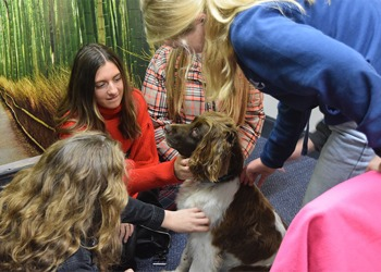 The Edinburgh Academy receives a visit from a distinguished Dognitary