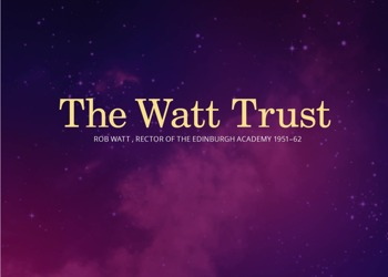 Watt Memorial Trust - Supporting Further Learning